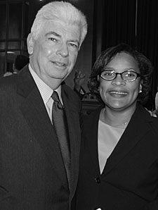 Senator Chris Dodd and Tanya Long
