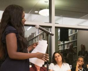 Piazadora Footman speaking at Rise's 10th anniversary celebration