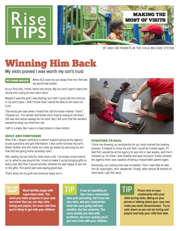 Rise Visiting TIPS – Set of 4 Handouts product image