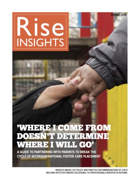 INSIGHTS #1: A guide to partnering with parents to break the cycle of intergenerational foster care placement issue cover